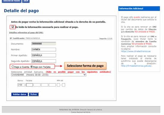 nueva modalidad de pago online del pasaporte
