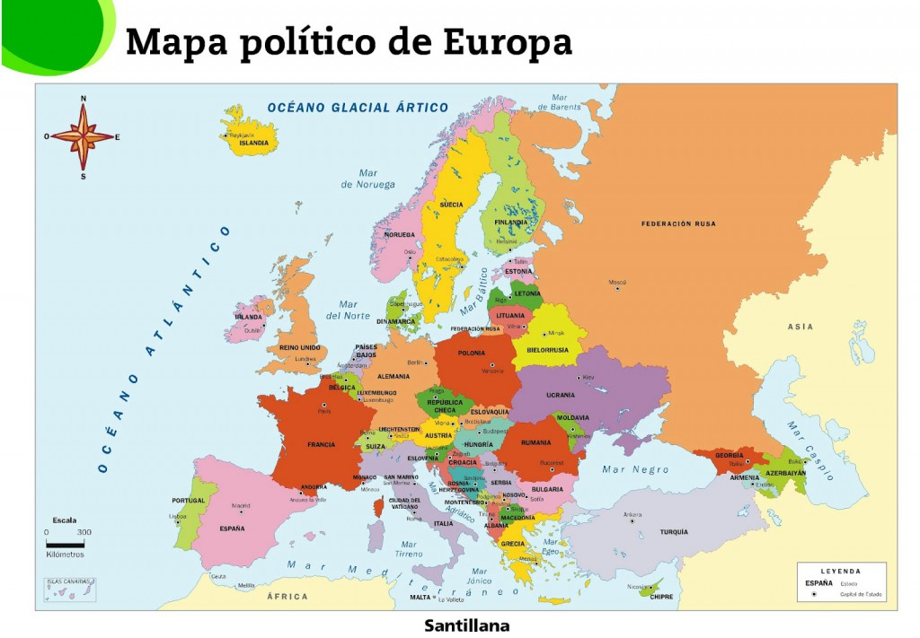 capitales de europa mapa