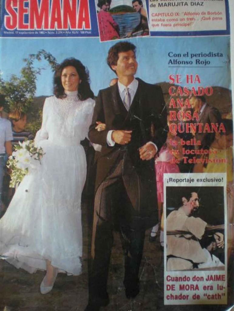 boda alfonso rojo y ana rosa quintana