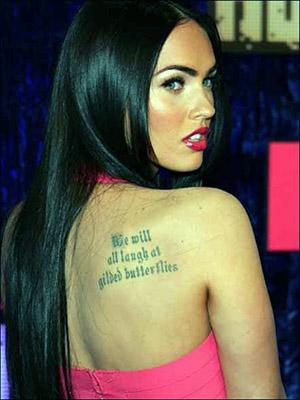 megan fox tatuaje espalda