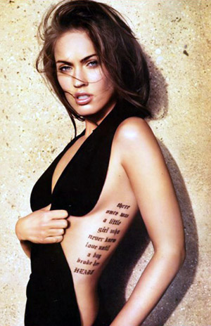 tatuajes megan fox