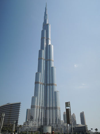 altura de Burj Khalifa