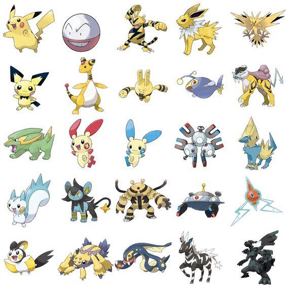 diferentes tipos de de pokemon