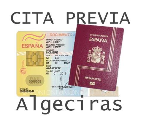 algeciras cita previa dni y pasaporte