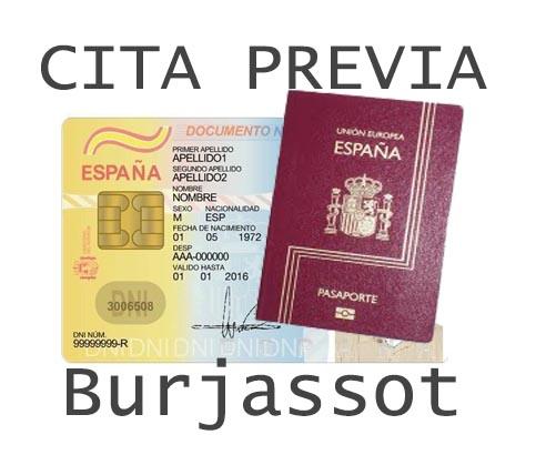 burjassot cita previa dni y pasaporte