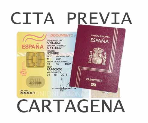 cita previa dni pasaporte en cartagena