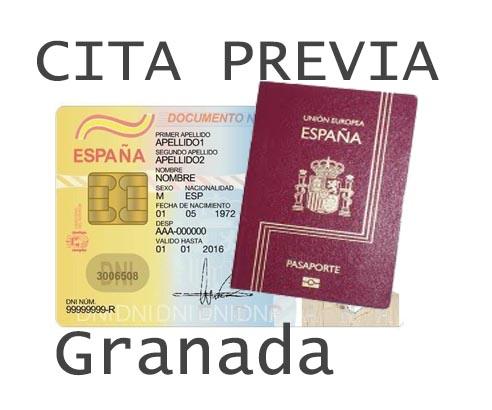 granada cita previa dni y pasaporte
