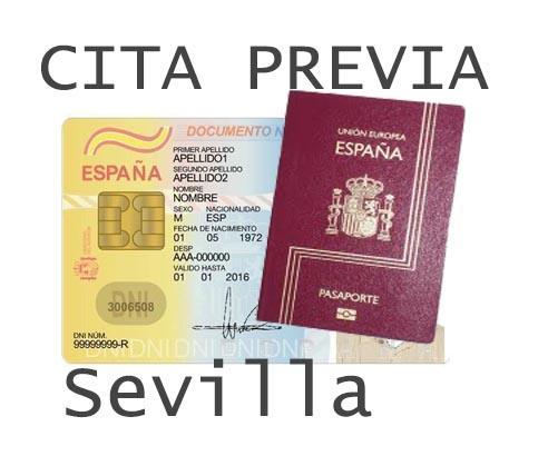 sevilla cita previa dni y pasaporte