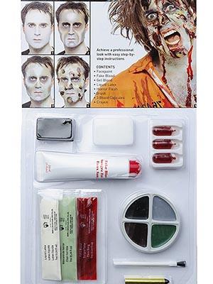 maquillaje para halloween zombie