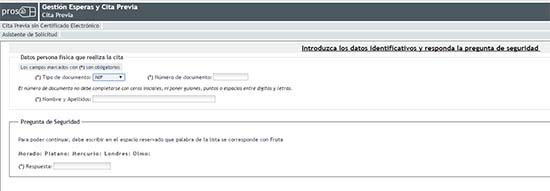 primer paso para solicitar cita previa en la ss por internet