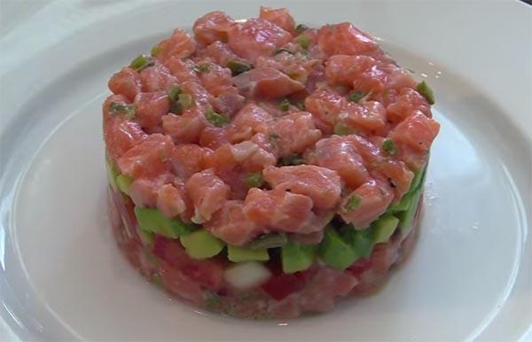 tartar de salmon receta facil
