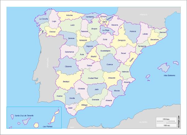 todas las provincias de españa mapa